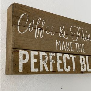 🍁 Coffee & Friends Wooden Farmhouse Sign